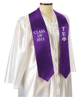 Tau Epsilon Phi Embroidered Graduation Sash Stole