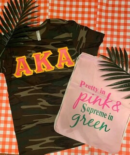The New Super Savings - Alpha Kappa Alpha On The Go Set - CAMO AND PINK