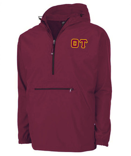 Theta Tau Tackle Twill Lettered Pack N Go Pullover