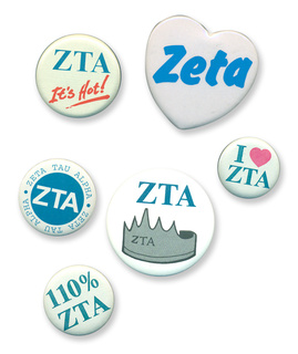 Zeta Tau Alpha Sorority Buttons 6-Pack