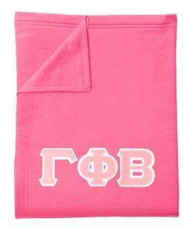 DISCOUNT-Gamma Phi Beta Lettered Twill Sweatshirt Blanket