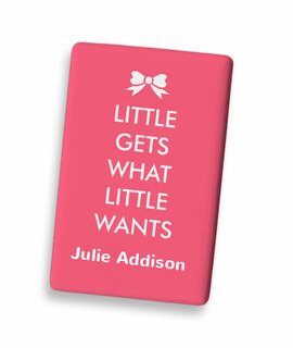 Little Gets What Little Wants with Bow Ceramic Magnet