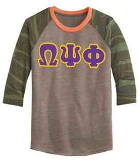 DISCOUNT-Omega Psi Phi Lettered Camouflage Eco-Jersey