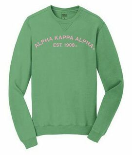 Alpha Kappa Alpha Pigment Dyed Crewneck Sweatshirt
