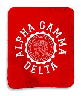 Alpha Gamma Delta Seal Sherpa Lap Blanket