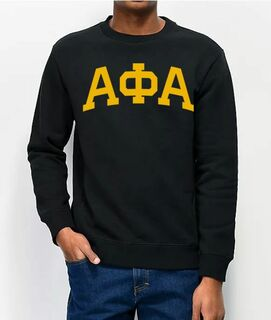 Alpha Phi Alpha Greek Lettered Arch Crewneck Sweatshirt