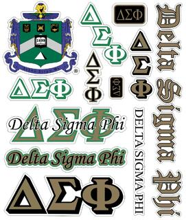 Delta Sigma Phi Multi Greek Decal Sticker Sheet