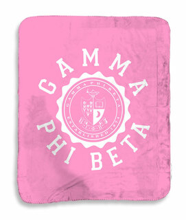 Gamma Phi Beta Seal Sherpa Lap Blanket