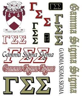 Gamma Sigma Sigma Multi Greek Decal Sticker Sheet