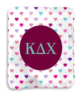 Kappa Delta Chi hearts Sherpa Lap Blanket