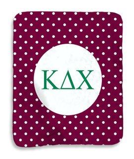 Kappa Delta Chi Polka Dots Sherpa Lap Blanket