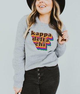 Kappa Delta Chi Retro Maya Comfort Colors Crewneck Sweatshirt