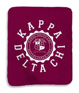 Kappa Delta Chi Seal Sherpa Lap Blanket