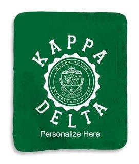 Kappa Delta Seal Sherpa Lap Blanket
