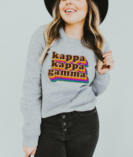Kappa Kappa Gamma Retro Maya Comfort Colors Crewneck Sweatshirt