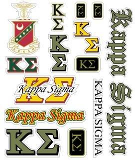 Kappa Sigma Multi Greek Decal Sticker Sheet