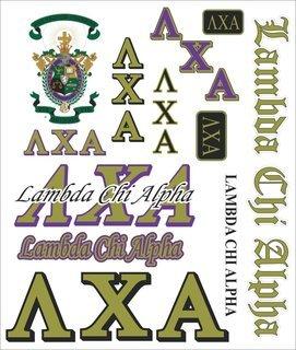 Lambda Chi Alpha Multi Greek Decal Sticker Sheet