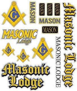 Mason / Freemasons Multi Greek Decal Sticker Sheet