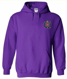 DISCOUNT-Omega Psi Phi Crest - Shield Emblem Hooded Sweatshirt