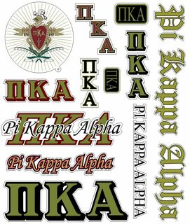 Pi Kappa Alpha Multi Greek Decal Sticker Sheet