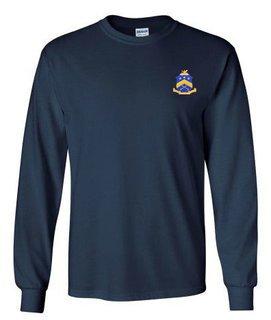 DISCOUNT-Pi Kappa Phi Fraternity Crest - Shield Longsleeve Tee