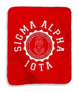Sigma Alpha Iota Seal Sherpa Lap Blanket