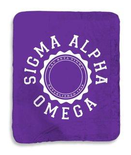 Sigma Alpha Omega Seal Sherpa Lap Blanket