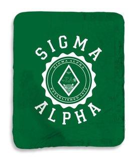 Sigma Alpha Seal Sherpa Lap Blanket