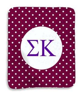 Sigma Kappa Polka Dots Sherpa Lap Blanket