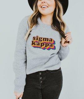 Sigma Kappa Retro Maya Comfort Colors Crewneck Sweatshirt