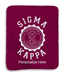 Sigma Kappa Seal Sherpa Lap Blanket