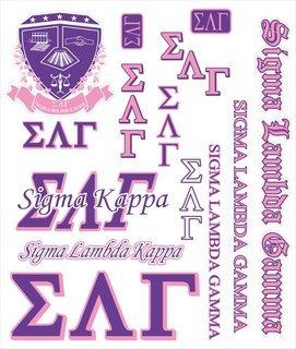 Sigma Lambda Gamma Multi Greek Decal Sticker Sheet