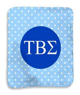 Tau Beta Sigma Polka Dots Sherpa Lap Blanket