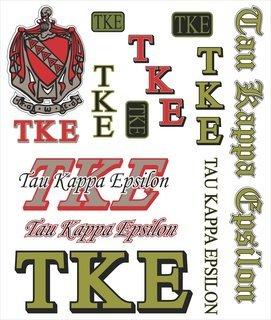 Tau Kappa Epsilon Multi Greek Decal Sticker Sheet