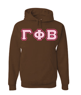 3 Color Greek Lettered Hoodie - New!