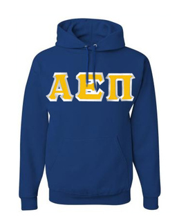 $30 Alpha Epsilon Pi Custom Twill Hooded Sweatshirt