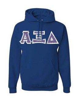 Alpha Xi Delta Custom Twill Hooded Sweatshirt