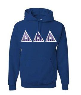 Delta Delta Delta Custom Twill Hooded Sweatshirt