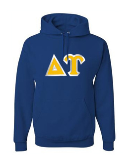 Delta Upsilon Custom Twill Hooded Sweatshirt