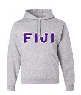$30 FIJI Fraternity Custom Twill Hooded Sweatshirt