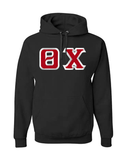 Theta Chi Custom Twill Hooded Sweatshirt