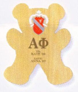 Alpha Phi Teddy Bear Paddle / Plaque