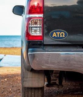 Alpha Tau Omega Oval Fraternity Car Magnet Set of 2