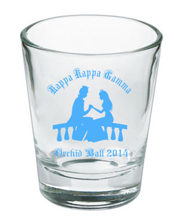 Custom Printed Short Glass Design #9
