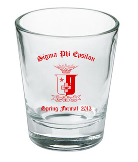 Custom Printed Shot Glass Design #11
