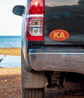 Kappa Alpha Oval Fraternity Car Magnet Set of 2