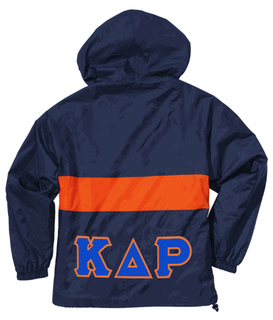Lettered Greek Anorak Pullover