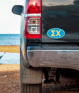 Sigma Chi Oval Fraternity Car Magnet Set of 2