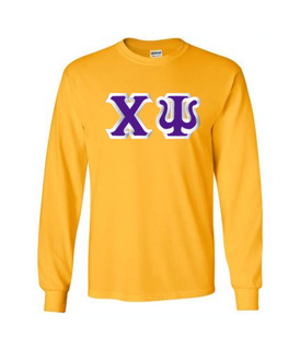 Chi Psi Custom Twill Long Sleeve T-Shirt