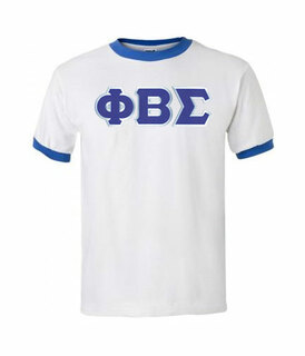 DISCOUNT- Phi Beta Sigma Lettered Ringer Shirt